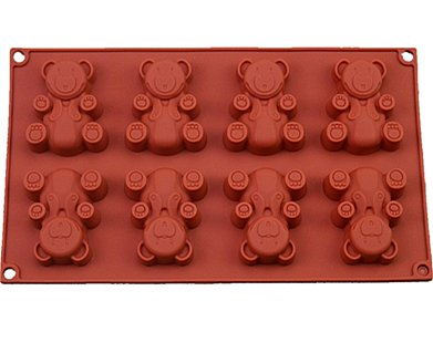 FantasyDay Premium Antiadherente Moldes para Tartas, Moldes de Silicona para Caramelos, Chocolate, Hornear, Tarta, Galletas, Jabón, Hielo - Antiadherente Apto para Lavavajillas - Oso