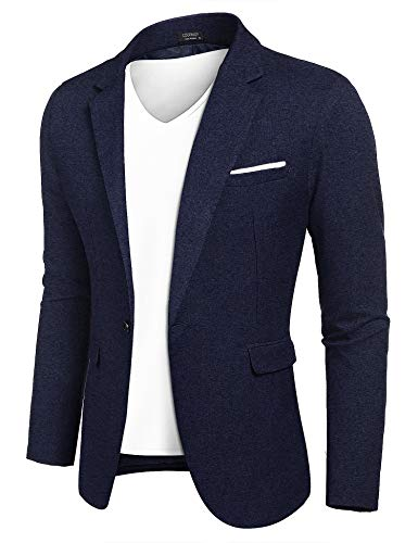 THWEI Mens Velvet Blazer Slim Fit Solid Blazer Sport Coat (XXL, DarkGreen)