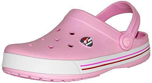 Beppi Pinke Mädchen Clogs Pantoletten - Weiche Kinderschuhe für Daheim, Pink, Gr. 35