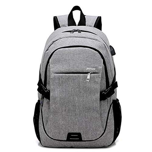 PJY Rugzak voor Vrouwen Mannen Tieners USB Opladen Laptop Daypack Casual Schoudertas Jongens Meisjes Schooltas Pack
