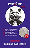 Cosy Life Premium Hygiene Cat Litter - Naturally Clumping - Baby Powder Scent - 15L