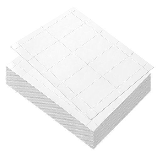 Business Card Paper, Blank Cardstock for Inkjet and Laser Printers (3.5 x 1.9 in, 100 Sheets)