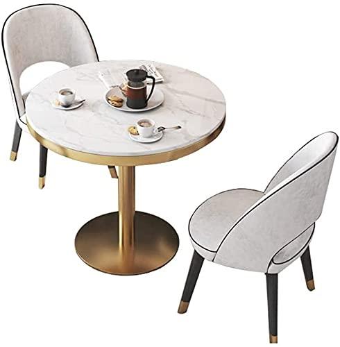 WANGLX Juego de Mesa de Comedor para Comedor y Cocina, 1 Mesa y 2 sillas Mábricas de mármol Conjuntos de Muebles de Cocina Sala de...