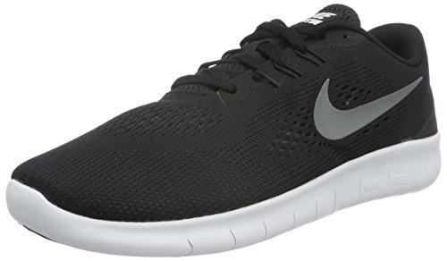 Nike Boy's Flex 2017 RN (TDV) Running Shoes (8 Toddler M, Black/Metallic Silver)