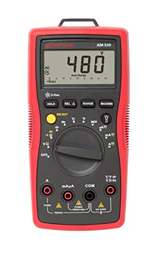 Amprobe - 4018649 AM-520 HVAC Multimeter with Non-Contact Voltage Detection and Temperature