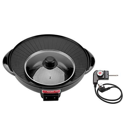 Electric BBQ Hot Pot, Pentola elettrica multifunzionale elettrica Shabu grill BBQ 1500W 2 In 1 Elettrico Pan Hot Pot barbecue Frittura Grill Cucina