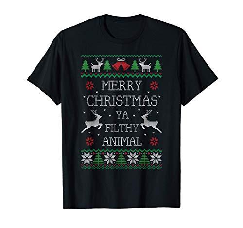 Merry Christmas Animal Filthy Ya T-Shirt