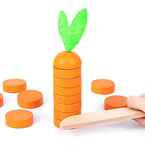 NEREN Bausteine,Karotten Stapelspielzeug Brettspiele-Spielen Essen Obst Spielzeug Küche Spielhaus Spielzeug für Kinder Silvester Partybedarf