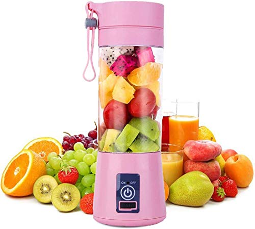 AWOKZA™ : Personal Mini Automatic Rechargeable Juicer Bottle Blender | Smoothies & Juice (Multi Color).