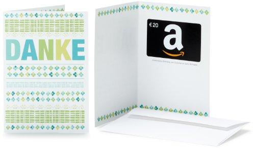 Amazon.de Geschenkkarte in Grußkarte - 20 EUR (Danke)