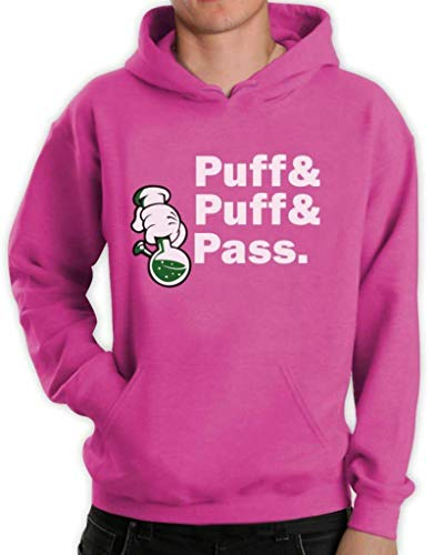Puff & Pass Dope Bong Hoodie Blunt Weed 420 Mickey Gloves Hands Just Hit IT