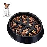 Relaxdays - Ciotola anti-scivolo, per cani di taglia media e grande, in plastica, antiscivolo, per mangiare lentamente, 500 ml, colore: Nero