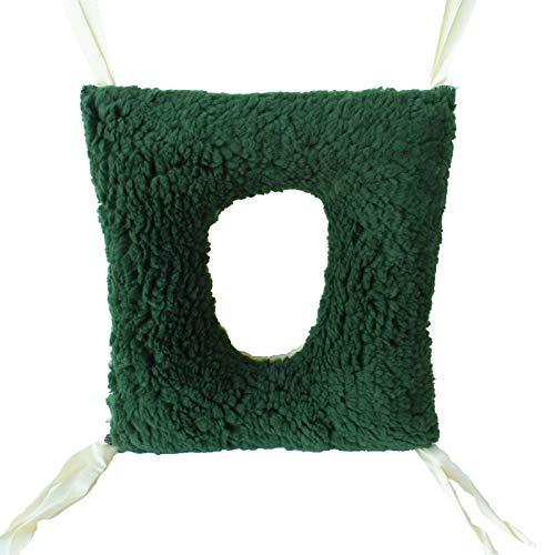 Kissen gegen Wundliegen, doppelseitig, Form: quadratisch mit Loch, Maße: 44 x 40 x 12 cm, beugt Druckgeschwüre vor.