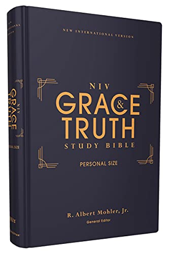 Compare Textbook Prices for NIV, The Grace and Truth Study Bible, Personal Size, Hardcover, Red Letter, Comfort Print  ISBN 9780310447368 by Zondervan,Mohler  Jr., R. Albert