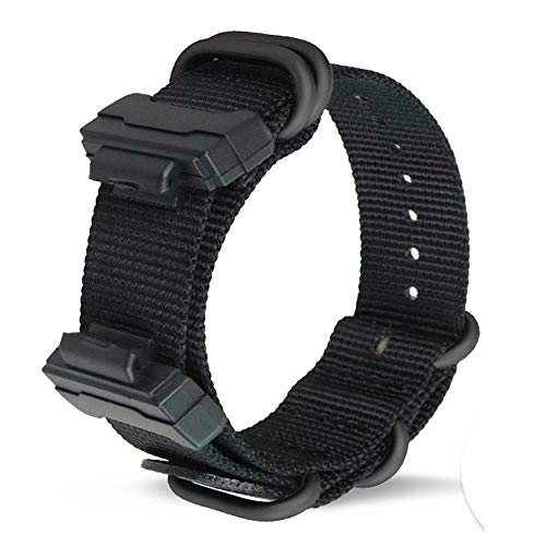 for G-SHOCK GW-DW5600 Bands, ViCRiOR Premium Soft NATO Woven Nylon Replacement Strap Watch Band for Casio G-SHOCK GW-DW5600, Black