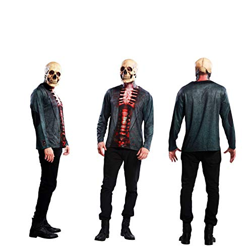 Yijja Fast Fun - Skeleton, camiseta de manga larga para adultos, talla L (Charm Kingdom YJ00010)