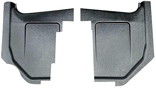 MACs Auto Parts 42-40581 -67 Fairlane-Ranchero Black Paintable Injection Molded ABS Plastic Kick Panels