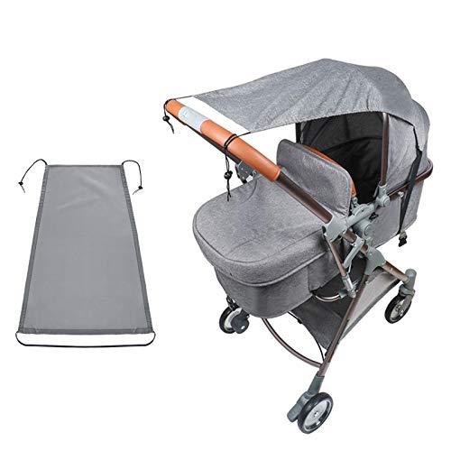 Sonnensegel Kinderwagen, Sonnenschutz für Kinderwagen, Buggy Sonnendach, Sonnenverdeck Kinderwagen, Sonnensegel mit Uv Schutz (grau)
