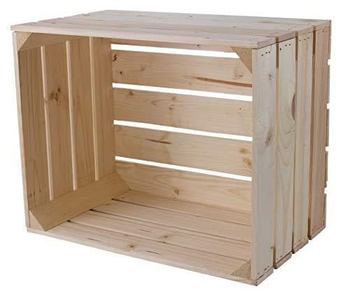 Schlichte helle Holzkiste/Obstkiste ideal für individuelle, Regalsysteme oder zur Dekoration, neu, 50x40x30cm
