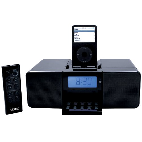 DreamGear i.Sound Dreamtime Speaker System and Alarm Clock Radio for iPod (Black)