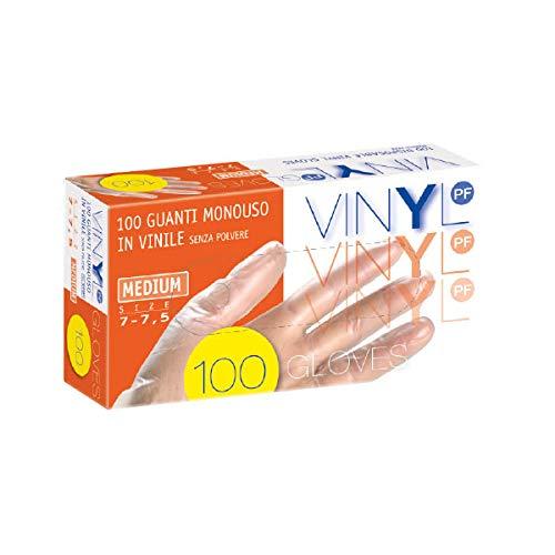 General Purpose handschoen vinyl, L, Transparant, 100