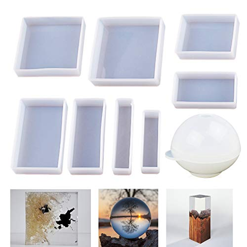 LET'S RESIN Epoxy Resin Molds, Resin Casting Molds Silicone Square Ball Molds...