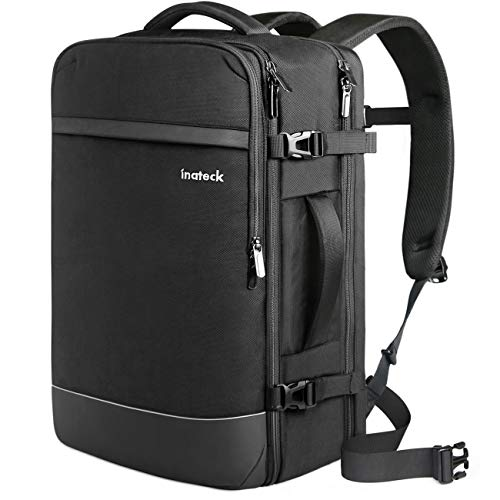 Inateck 40L Reiserucksack, Handgepäck Flugzeug Rucksack, Diebstahlsicherer Herren Laptoprucksack für 15,6/17/17,3 Zoll Laptops, Travel Carry On Backpack, Kabinenrucksack Bordgepäck