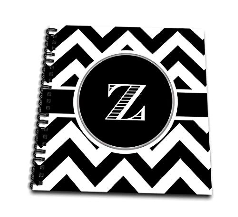 3dRose db_222088_3 Black and White Chevron Monogram Initial Z Mini Notepad, 4