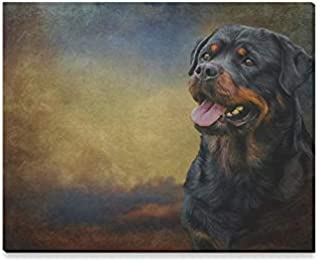 JTMOVING Wall Art Painting Drawing Dog Rottweiler Tricolor Portrait OnPrints On Canvas The Picture Landscape Pictures Oil for Home Modern Decoration Print Decor for Living Room