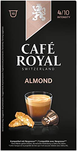 Café Royal Almond Flavoured Edition, 50 Nespresso kompatible Kapseln, 5er Pack (5 x 10 Kaffeekapseln)