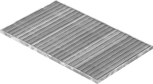 Fenau | Gitterrost/Baunorm-Rost Maße: 490 x 790 x 20 mm - MW: 30 mm / 10 mm (Vollbad-Feuerverzinkt) (Passend für Zarge: Fenau 500 x 800 x 23 mm) Industrie-Norm-Rost für Lichtschacht