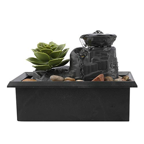 Fuentes de mesa, cascada de la fuente de escritorio de la relajación interior, cascada Zen Meditation Indoor Waterfall…
