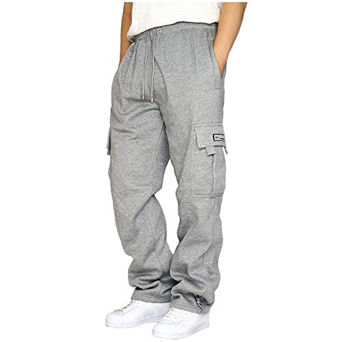 Herren Cargohose mit 4 Taschen   Lange Cargo Hose Freizeithose Wanderhose Trekkinghose Joggers Men Pants Sporthose Outdoorhose für Männer
