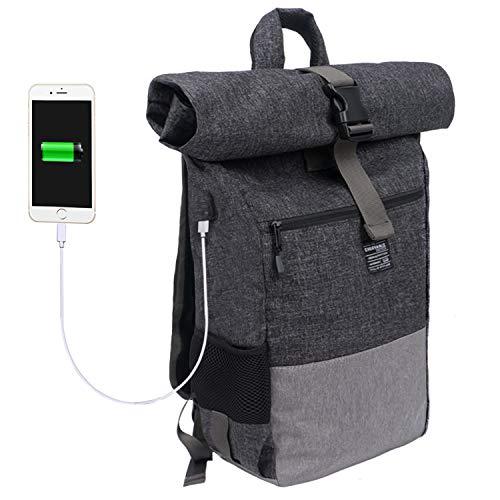 EverVanz Mochila para Laptop, Mujer & Hombre Enrollable Resistente al Agua, Viajes,...