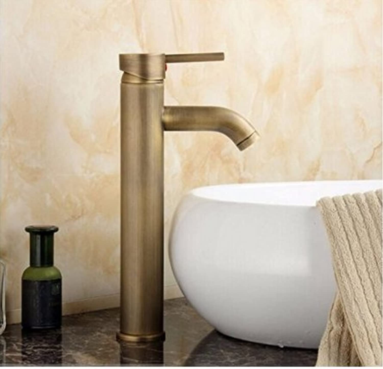 Bathroom Sink Taps Antique Brass Faucet Basin Deck Mounted High Faucet Sink Faucet Mixer Bathroom Faucets