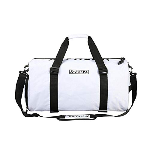 Travel bag bag shoe bag large capacity cross-body sport portable fitness bag wet and dry isolated-white_50*25 * 21cm