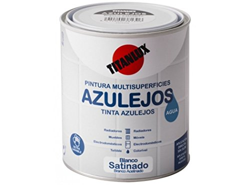 Esmalte Azulejos al Agua Titan Blanco 750 ml