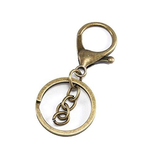 5 Stück/Lot Karabiner-Schlüsselhaken Schlüsselringe DIY Schlüsselanhänger Zubehör Antike Bronze