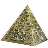 ZSQZJJ Jardín al Aire Libre Escultura Figura Estatua decoración,Metal Plata pirámide egipcia estatuilla pirámide Edificio Estatua hogar Escritorio decoración