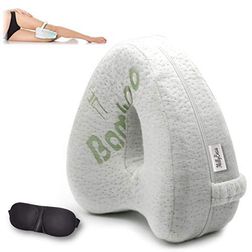 MillyBeas Leg Knee Orthopedic Pillow for sleeping on side, Bed Wedge...