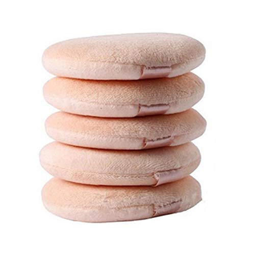 5 Pcs Flocking Round Makeup Sponge Air Cushion Powder Puff Blending Sponge for Liquid Cream and Powder Makeup Art