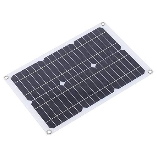 Cargador de Panel Solar, Cargador de Emergencia portátil para Exteriores de 20 W, Doble USB de silicio monocristalino Compacto de 18 V para teléfono móvil, cámara Deportiva