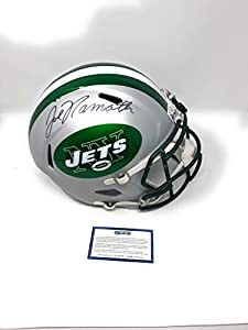 Joe Namath New York Jets Signed Autograph RARE BLAZE Full Size Speed Helmet Steiner Sports Certified