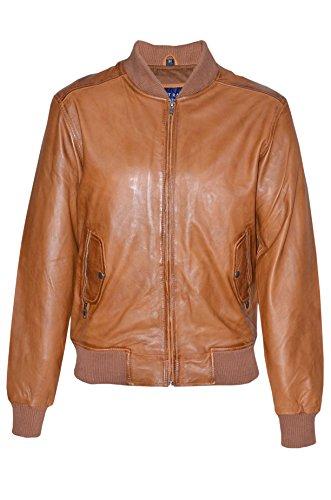 1229 70 BOMBARDIERS rétro hommes Tan classique italien doux cuir Nappa veste (UK 3XL / EU 58)
