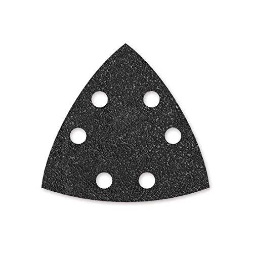 MENZER Black Klett-Schleifblätter, 93 mm, 6-Loch, Korn 24, f. Deltaschleifer, Siliciumcarbid (25 Stk.)