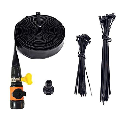 Summer Black Trampoline Sprinkler Kit Juego De Rociadores De Agua Al Aire Libre para Niños Diversión Juegos De Parque Acuático Aspersor De Jardín US 15 m