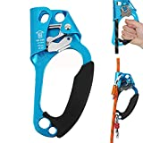 DFGENLY Bloqueadores de Escalada para Montañismo, Portátil Dispositivo de Escalada con Gears Equipo Ascendente Manual Abrazadera de Cuerda Vertical para 8-13mm Cuerda