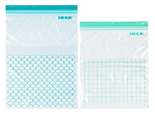 2juegos de IKEA Istad bolsas, congelador seguro, reutilizable bolsas de almacenamiento de alimentos y bolsas de almacenamiento hogar
