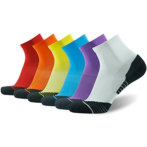 HUSO Quarter Tennis Socks Pure Color Cool No Blister Keeps Feet Cool & Dry Gift Socks for Men...