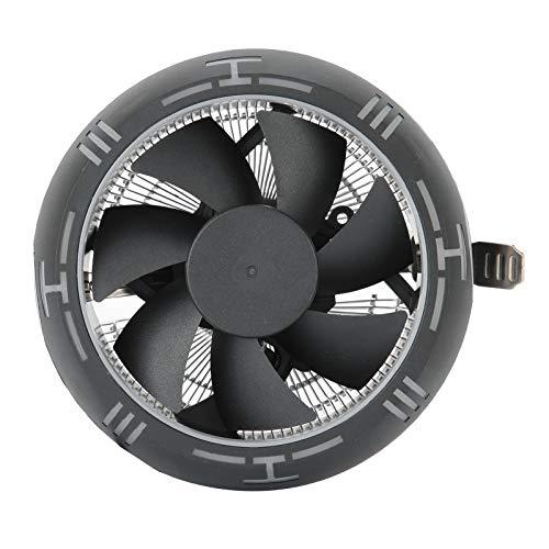 Vipxyc Ventilador de refrigeración de CPU de computadora para disipador de Calor de CPU de Chip Intel Disipador de Calor de Gran Volumen de Aire ABS + Material de Aluminio